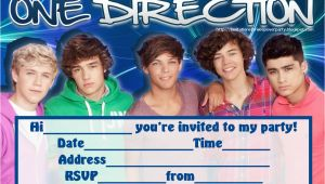 One Direction Birthday Invitations Invitations for Sleepover Party