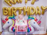 One Year Old Birthday Decorations Unicorn Birthday Party with Stokke Happily Hughes