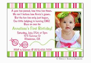 One Year Old Birthday Quotes For Invitations 3 Party Invitation Wording Cimvitation