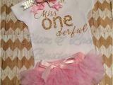Onederful Birthday Girl Miss Onederful Birthday top First Birthday by