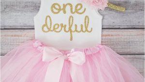 Onederful Birthday Girl One Derful First Birthday Outfit Girl 1st Birthday Girl Outfit