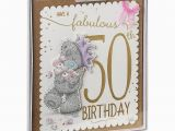 Online 50th Birthday Cards Fabulous 50th Me to You Bear Luxury Boxed Birthday Card