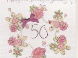 Online 50th Birthday Cards Handmade 50th Birthday Card Karenza Paperie