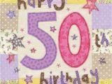 Online 50th Birthday Cards Happy 50th Birthday Card Large Luxury Birthday Card