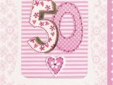 Online 50th Birthday Cards Pink 50th Birthday Card Karenza Paperie