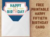 Online 50th Birthday Cards Salmon Navy Happy 50th Birthday Card Free Printables Online