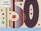 Online 50th Birthday Cards Stars Bunting 50th Birthday Card Karenza Paperie