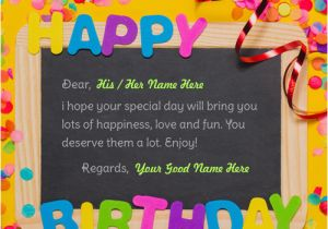 Online Birthday Card Maker With Name