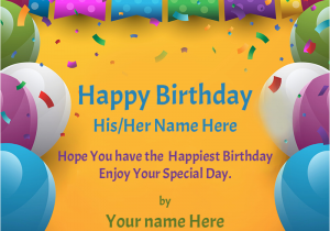 Online Birthday Card Maker With Name Greeting Festival