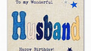 Online Birthday Cards for Husband Hand Finished Wonderful Husband Birthday Card Karenza