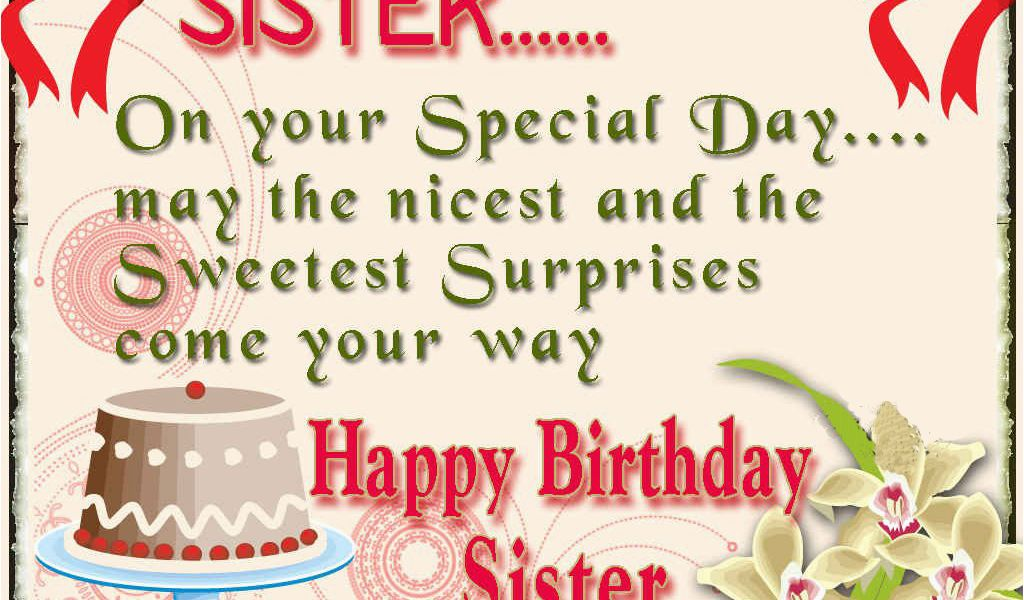 Online Birthday Cards For Sister Happy Birthday Sister Greeting