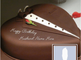 Online Birthday Gifts for Husband In Canada Write Name On Chocolate Heart Cake for Husband This is
