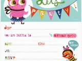 Online Birthday Invitations With Rsvp Free Party Templates