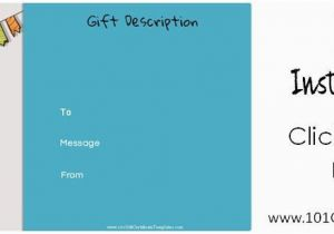 Online Gift Cards for Birthdays Free Birthday Gift Certificate Template