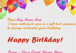 Online Happy Birthday Card With Name Edit Wishes