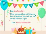 Online Happy Birthday Card with Name Edit How to Write Birthday Card Wishes How to