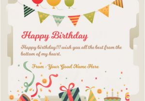 Online Happy Birthday Card With Name Edit Write On Friend Wishes Greeting