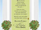 Open House Birthday Party Invitation Wording Christmas Open House Invitations Christmas Invitation