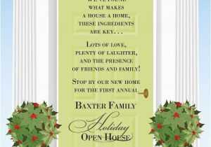 Open House Birthday Party Invitation Wording Christmas Open House Invitations Christmas Invitation