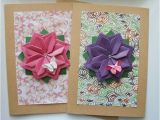 Origami for Birthday Cards Handmade Spring Card Set Of 2 Cards Mother 39 S Day