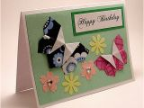 Origami for Birthday Cards origami butterfly Birthday Card Flickr Photo Sharing