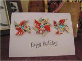 Origami for Birthday Cards origami Pinwheel Birthday Card