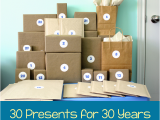 Original Birthday Gifts for Him 30th Birthday Gift Idea 30 Presents for 30 Years