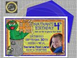 Oscar the Grouch Birthday Invitations 18 Best Sesame Street Party Images On Pinterest Sesame