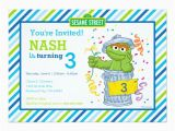 Oscar the Grouch Birthday Invitations Karate Birthday Cards Greeting Photo Cards Zazzle