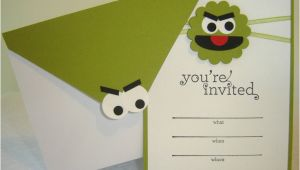 Oscar the Grouch Birthday Invitations Oscar the Grouch Sesame Street Birthday Invitation 1