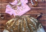 Outfits for 1 Year Old Birthday Girl First Birthday Outfit Girl 1st Birthday Pink by Poshinpinkkids