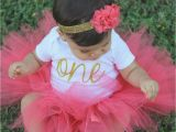 Outfits for First Birthday Girl First Birthday Outfit Girl Birthday Tutu Outfit Coral and