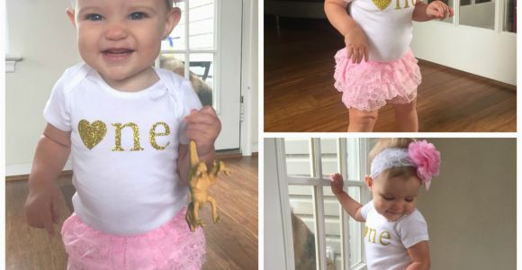Outfits for First Birthday Girl Pink and Gold First Birthday Outfit First Birthday Girl