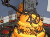 Over the Hill Birthday Decorations orange and Black Over the Hill 40th Birthday Cake