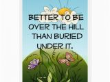 Over the Hill Birthday Gifts for Him Over the Hill Birthday Card Zazzle