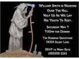 Over the Hill Birthday Invitation Templates 50th Birthday Grim Reaper Party Invite Google Search