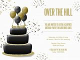 Over the Hill Birthday Invitation Templates Over the Hill Cake Invitation Birthday Invitations From