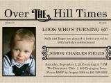 Over the Hill Birthday Invitations 50th Birthday Invitations Over the Hill Times 50th