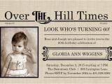 Over the Hill Birthday Invitations Extra Extra Over the Hill Times 60th Birthday Invitation