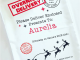 Overnight Birthday Card Delivery Overnight Delivery Personalised Santa Sack Ym