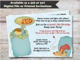 Overnight Birthday Card Delivery Sleepover Birthday Party Slumber Party Invitations