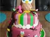 Owl Birthday Cake Decorations First Birthday Owl Cake Cakecentral Com