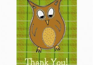 Owl Birthday Card Sayings Little Brown Owl Thank You Card