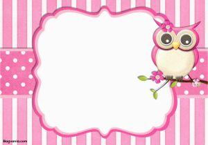 Owl Birthday Invitation Template Free Printable Bagvania