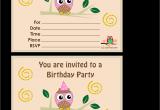 Owl Birthday Invitation Template Owl Birthday Party Invitations Template Best Template