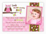 Owl Birthday Invitations Girl Custom Owl Birthday or Baby Shower Invitation Girl You Print