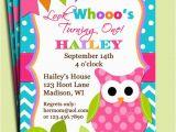 Owl Birthday Invitations Girl Girl Owl Invitation Printable Birthday or Baby Shower