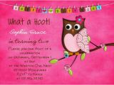 Owl Birthday Invitations Girl Items Similar to Hot Pink Owl Birthday Invitation Fall