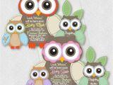 Owl Birthday Invitations Girl Owl Baby Shower Invitations Boy Girl Birthday Invites