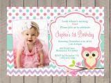 Owl Birthday Invitations Girl Owl Birthday Invitation Girl First Birthday Girl Teal